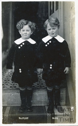 Rupert and Roy, the photographers twin boys c.1916
