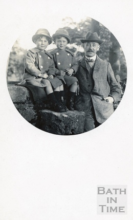 The photographer and his twin boys c.1914