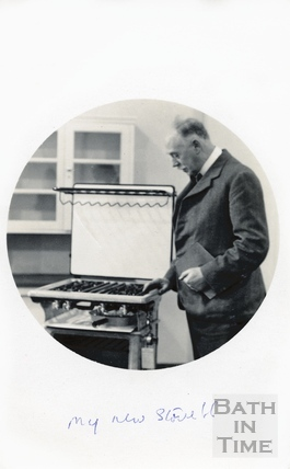 The photographer with his new stove! c.1940
