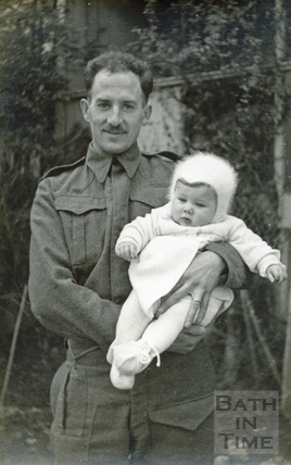 The photographer's grandson Peter with his father Rupert c.1940