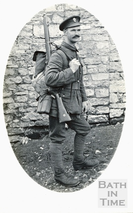 The photographer's brother-in-law Sidney Bence, shortly before leaving for the trenches in WWI c.1915