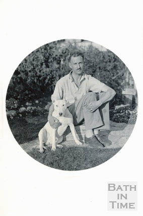 The photographer's son Rupert and his dog, c.1938