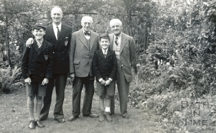 George, Roy, George Love Dafnis, Bill and the photographer's son-in-law c.1952