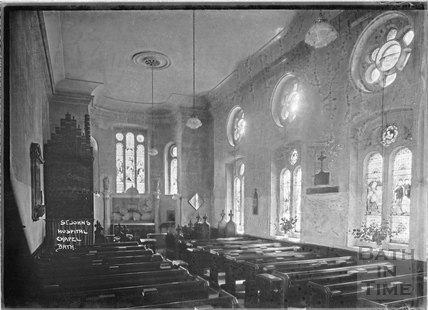 Inside St John's Hospital chapel c.1920s