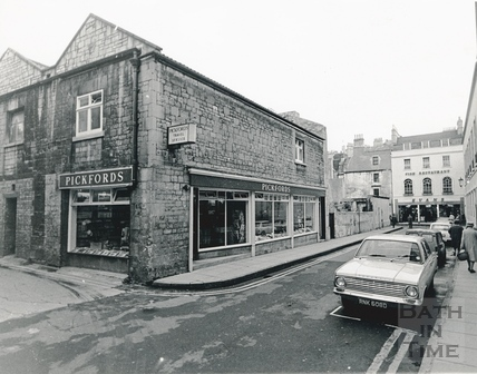 Abbey Gate Street and Swallow Street, looking towards Evans Fish Bar c.1968