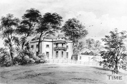 B&W copy of a watercolour of Batheaston Villa by Wm W Wheatley (1811- 1885)