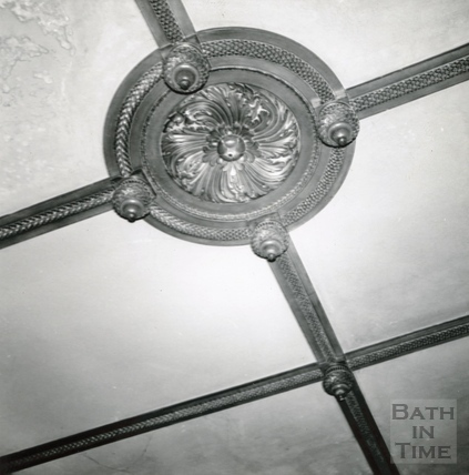 Plaster Ceiling Rose in Dining Room. Wood House, Twerton August 1965