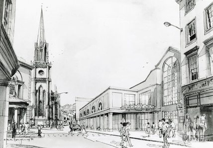 Artist's impression of the Podium Development, Northgate Street, October 1985