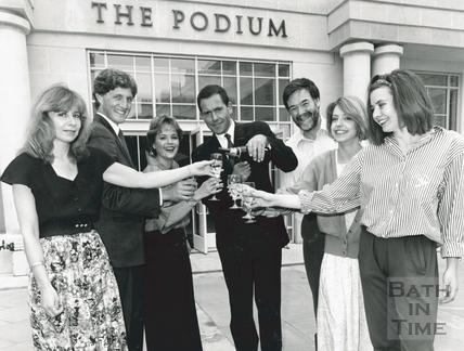 Celebrating outside the Podium 5 June 1990