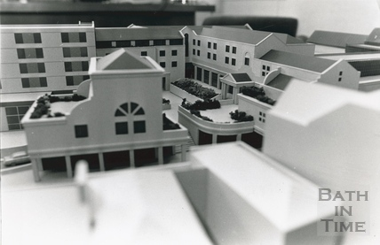 Architectural model for the Podium development, Walcot Street 29 August 1985