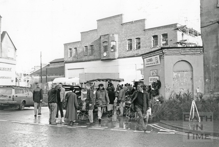 Outside the Tramshed Flea Market, Walcot Street 5 December 1992
