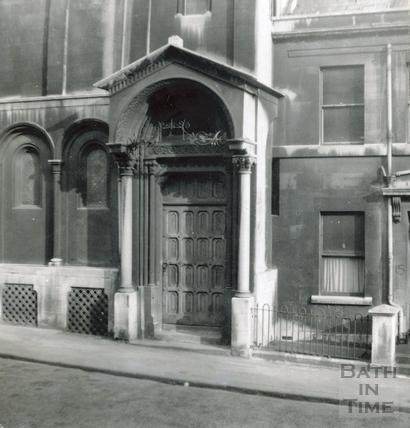 Doorway to Percy Chapel, Charlotte Street c.1920s