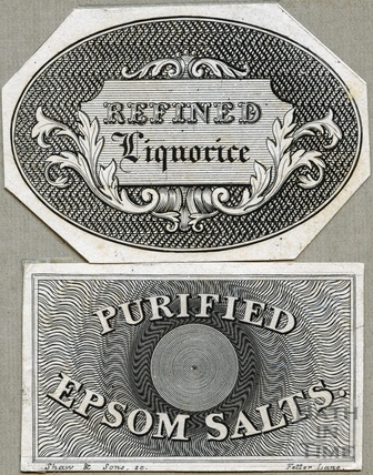 Refined Liquorice and Purified Epsom Salts c.1824