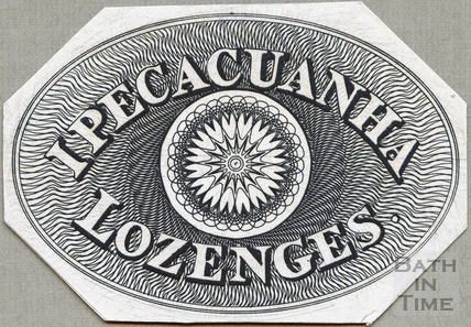 Ipecacuanha Lozenges label c.1824