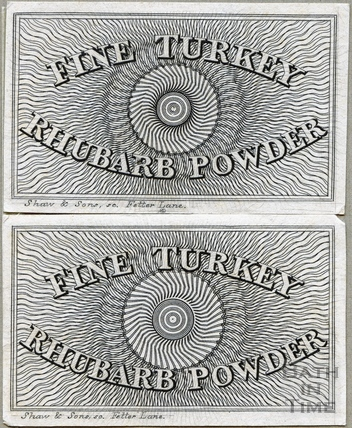 Fine Turkey Rhubarb Powder label c.1824