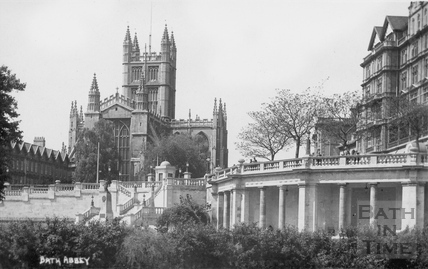 Bath Abbey from Parade Gardens c.1910