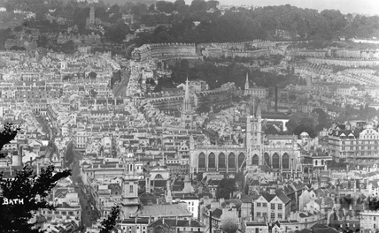 View of Bath from Beechen Cliff c.1910