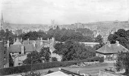Bath general view from Sydney Buildings c.1920