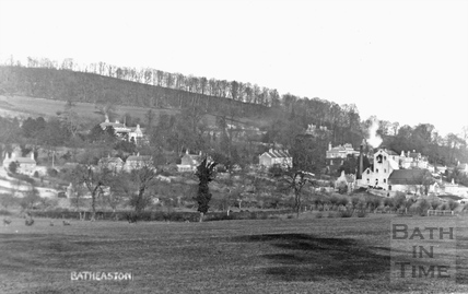 View of Bailbrook and Batheaston Brewery from Bathampton c.1910