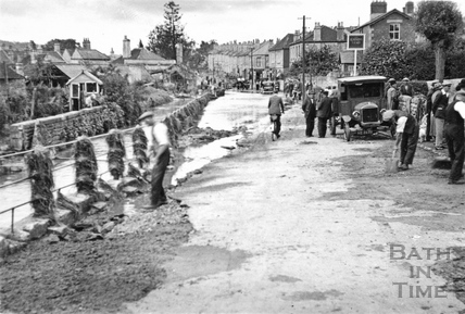 Floods at Larkhall, 1932
