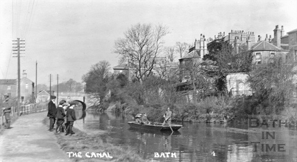 The Kennet and Avon Canal, Sydney Buildings, Bath No. 4 1915