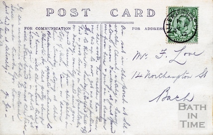 Reverse of Postcard shown as Image reference 26243