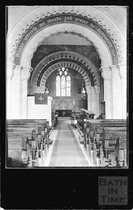 Interior of Priston Church 1932