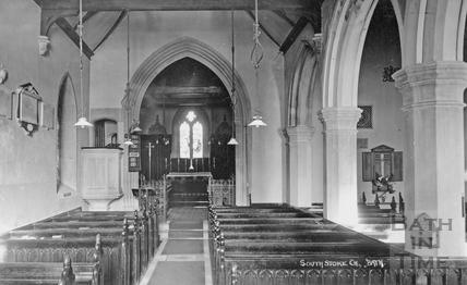 Interior, Southstoke Church, Bath, c.1910