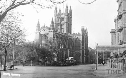 Bath Abbey from the Orange Grove c.1910