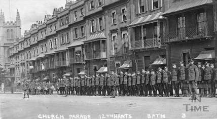 Church Parade, 12th Hants, Raby Place, Bathwick Hill, Bath no. 3, 1915