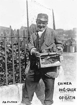 Guinea Pig Jack in Manvers Street, c.1900