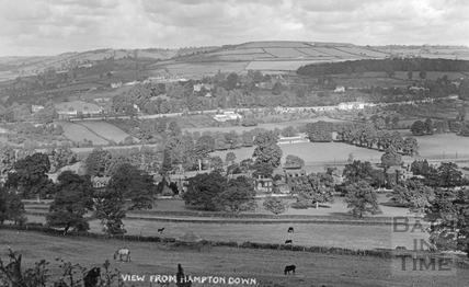 View from Hampton Down across Bathampton towards Little Solsbury and Bailbrook c.1910