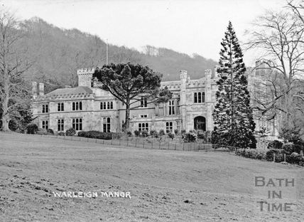 Warleigh Manor- view with doorway c.1912