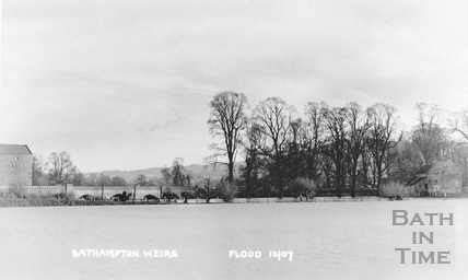 Bathampton Mill and Weirs Flood Dec 1907