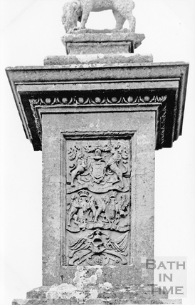 Lansdown Monument c.1910 - detail