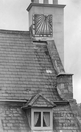 Sundial on roof, Bathampton c.1910