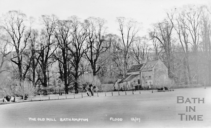 The Old Mill, Bathampton Flood, Dec 1907