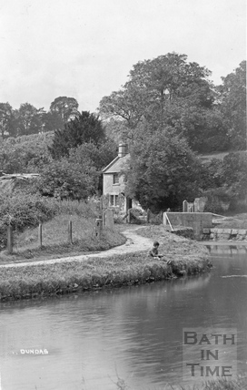 Fishing on the Kennet and Avon Canal, Dundas Aqueduct c.1919