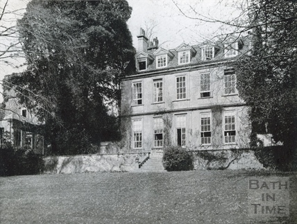 Rear of Batheaston House c.1922