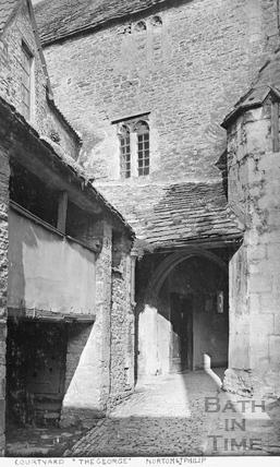 Courtyard, George Inn, Norton St. Philip c.1910