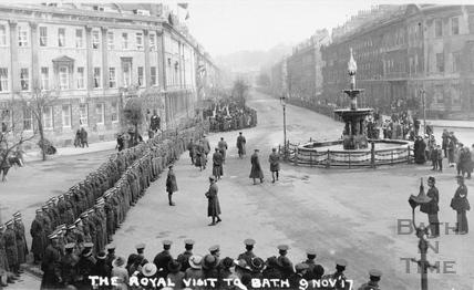The Royal Visit to Bath 9 Nov 1917