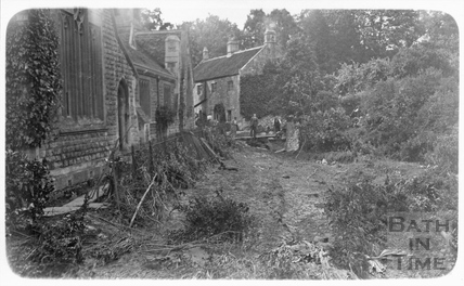 Floods at Batheaston - School and Factory Cottages 1932