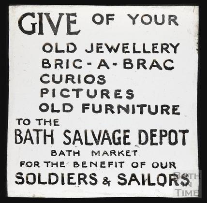 Bath Salvage Department, Bath Market, c.1914?