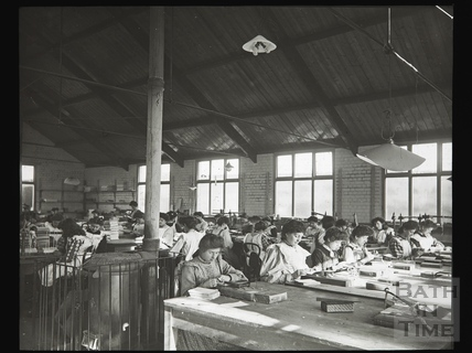 Girls Workroom, Bookbinders, Portway, Bristol c.1910