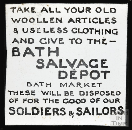 Bath Salvage Department, Bath Market, c.1914?