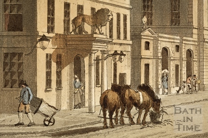 The White Lion Hotel, High Street 1804 - detail