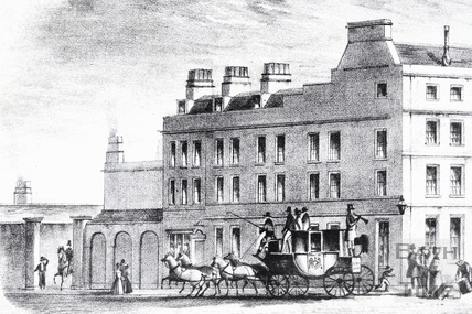 The White Lion Hotel, High Street, Bath c.1840 - detail