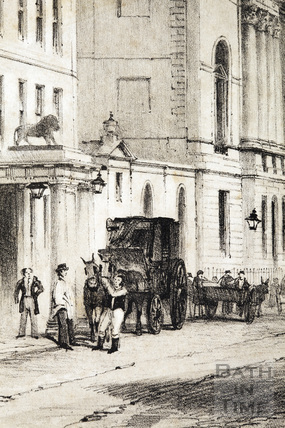 The White Lion Inn, High Street 1843 - detail
