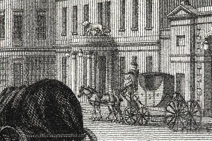 The White Lion Inn, High Street, Bath 1794 - detail