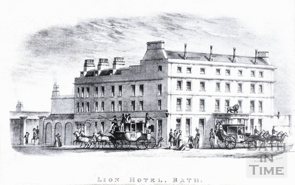 The Lion Hotel, High Street, Bath c.1840